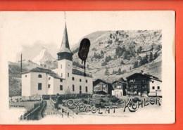 VAQ-38 Kirche Zermatt Chocolat Kohler, Flecke  Pionier. Nicht Gelaufen - VS Valais