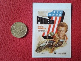 ANTIGUO CROMO OLD COLLECTIBLE CARD Nº 8 SUPER ÉXITO PRUEBA 1 ON ANY SUNDAY STEVE MACQUEEN CINE FILM MOTO MOTORCYCLE..VER - Chromos