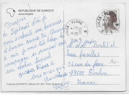 1985 - POSTE NAVALE - CARTE Du NAVIRE JULES VERNE à DJIBOUTI => TOULON - Marcophilie (Lettres)