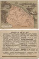 Chromos Librairie Hachette Colonie De La Guyane - Chromos