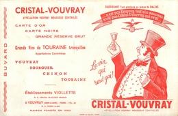 Buvard Ancien VINS CRISTAL VOUVRAY BOURGUEIL CHINON TOURAINE - Liqueur & Bière