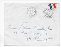 1966 - POSTE NAVALE - ENVELOPPE FM Du PORTE AVIONS ARROMANCHES => PARIS - Marcophilie (Lettres)