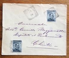 CAMERA DEI DEPUTATI CON STEMMA BUSTA CON 15+15 MICHETTI DA VALDAGNO A CHIETI IN D21/2/09ATA - 1900-44 Vittorio Emanuele III