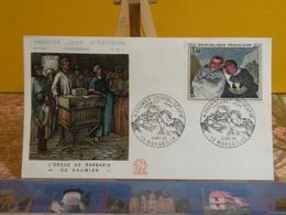 Honoré Daumier, Orgue De Barbarie (13) Marseille - 10.12.1966 FDC 1er Jour N°586 - Coté 2,20€ - 1960-1969