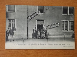 TOURS  LE 8° REGIMENT GENIE 1920 LE DRAPEAU ET SA GARDE - Tours
