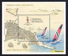 Italia Repubblica 2005 Foglietto N 42 American's Cup Trapani Louis Vuitton Acts - 6. 1946-.. Repubblica