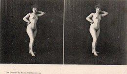 91Dch   Photo Stéreoscopique Stéréo Femme Entierement Nue - Stereoscopiche