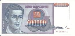YOUGOSLAVIE 500000 DINARA 1993 UNC P 119 - Yougoslavie