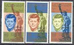 1965 Sharjah KHOR FAKKAN Michel 22-24** Kennedy, Surchargé, Statue Liberté - Khor Fakkan