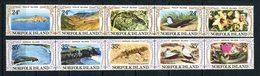 NORFOLK 1982  N° 272/281 ** Neufs MNH Superbe Faune Oiseaux Sterne Animaux Reptiles Fleurs Hibiscus Iles Philip Nepean - Ile Norfolk