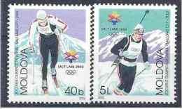 2002 MOLDAVIE 365-66**J.O Salt Lake City, Biathlon - Moldavie