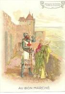 """""""au Bon Marché"""", Série Les époques, époque Romane, Château De Carcassonne,croisé, Armure,16cm X 11.5cm - Au Bon Marché"""