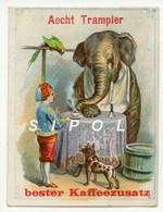 Chromo  Aecht Trampler  Sans Légende Elephant Buvant Un Café Avec Sa Trompe  TBE - Thé & Café
