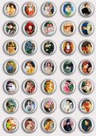 35 X Mary Cassatt Painting Fan ART BADGE BUTTON PIN SET 2 (1inch/25mm Diameter) - Badges