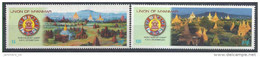 2001 Birmanie MYANMAR 273-74**  Sommet Bouddhiste, Drapeaux, Tourisme - Myanmar (Burma 1948-...)