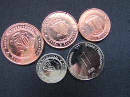 Lot Coins From Bosnia And Herzegovina, 5,10,20,50 Feniga, 1 Konvertibilna Marka, 2017, Unc - Bosnia And Herzegovina