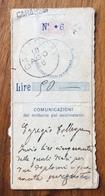 SARASSAI Lineare + GULLER SU RICEVUTA VAGLIA POSTALE IN DATA 19/8/16 - 1900-44 Vittorio Emanuele III