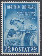 ALBANIA - 1943 - Yvert 284 Nuovo MNH. - Albania