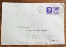 MINISTERO DELLA GUERRA CON STEMMA BUSTA  CON PROPAGANDA GUERRA  50 C. Da ROMA A ISCHIA  IL 9/11/42 - 1900-44 Vittorio Emanuele III