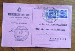 REPUBBLICA SOCIALE ITALIANA 50 C. Coppia SU R.R. DA VENEZIA  SUCC. 9 VIA GARIBALDI IN DATA 27/4/45 - 1900-44 Vittorio Emanuele III