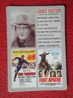 CALENDARIO DE BOLSILLO CALENDAR 2006 ACTOR ACTEUR JHON WAINE CINE FILMS FORT APACHE RÍO BRAVO EL ÁLAMO HOLLYWOOD WESTERN - Calendarios