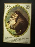 1950   SANTO ANTONIO  ANNO SANTO   CROMOLITICO   CALENDARIETTO CALENDARIO CALENDRIER - Calendriers