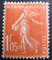 DF50478/130 - 1924 - TYPE SEMEUSE N°195 Vermillon NEUF* - BON CENTRAGE - Frankreich