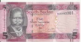 SOUDAN SOUTH 5 POUNDS 2015 UNC P 11 - Soudan