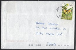 AE176   Slovenia 2007, Cover To Italy 1 Stamp, Butterfly - Slovenia