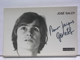 AUTOGRAPHE - DEDICACE  - CARTE SIGNEE - JOSE SALCY - Autographes