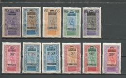 SOUDAN FRANCAIS Scott 50-60 Yvert 42-52 (11) * 72,50 $ 1922-27 SURCHARGES - Neufs