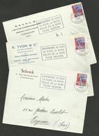 Dpt. MANCHE - CHERBOURG / Lot 3 Enveloppes Commerciales - Marcophilie (Lettres)