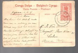 Congo - Entier Stibbe EP 43 VUE 31 - KIGOMA 1917 Vers CALAIS BASE NAVALE - WW1 -  PL7 - Stamped Stationery