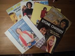 STONE ET CHARDEN. LOT DE SIX 45 TOURS. 1971 / 1978 TOUS LES AVIONS SONT DES OISEAUX / TRAVELLING MAN / L AVVENTURA / LA - Vinylplaten