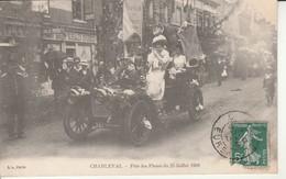 Charleval-Fête Des Fleurs Du 25 Juillet 1909.Ecrite Par Gohiey. - Francia