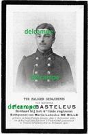 OORLOG GUERRE Petrus Basteleus Sint Pieters Leeuw SOLDAAT Gesneuveld Te Veurne Feb 1916 Doodsprentje Ruisbroek - Images Religieuses
