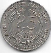 Guinea  25 Franc 1962 Km 7   Xf+ - Guinée