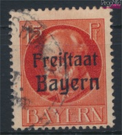 Bavière 156A Sf, B Après Droite Déplacé Oblitéré 1919 King Ludwig Avec Surcharge (9277937 (9277937 - Beieren