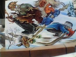 NORGE  ILLUSTRATA TROLL  TROLLS SCI SCIATORI N1990 HA7421 - Fumetti