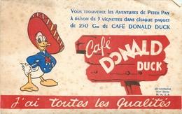 Buvard Ancien CAFE DONALD DUCK - WALT DISNEY - Café & Thé