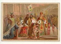 """Image Série   """" Rois De France """" Non Publicitaire """" Clovis  1er   5ème Roi De France ( 481 - 511) - Chocolat"""