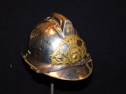 ANCIEN CASQUE ADRIAN SAPEURS POMPIERS - VILLE De VOULX - Pompiers