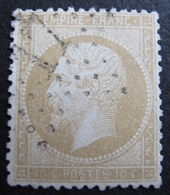 DF50500/64 - NAPOLEON III N°21a Bistre Jaune - ETOILE De PARIS N°17 - Dos Propre - 1862 Napoléon III