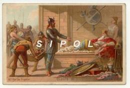 """Image Série   """" Rois De France """" Non Publicitaire """" Clovis  III   16me Roi De France ( 691-695 - Chocolat"""
