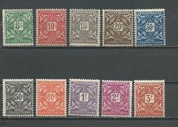 SOUDAN FRANCAIS Scott J11-J20 Yvert Taxe 11-20 (10) * 7,50 $ 1931 - Neufs