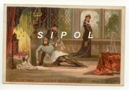 """Image Série   """" Rois De France """" Non Publicitaire """" Louis XV Dit Le Fainéant    35  ème Roi De France ( 986 - 987 - Chocolat"""