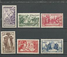 SOUDAN FRANCAIS Scott 106-111 Yvert Taxe 93-98 (6) ** 16,50 $ 1937 - Soudan (1894-1902)