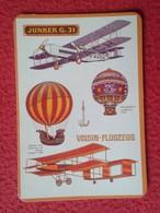 SPAIN CALENDARIO DE BOLSILLO CALENDAR BALLOONS AERONAUTICS PLANE PLANES BALLON AIRPLANE AIR JUNKER G. 31 VOISIN-FLUGZEUS - Tamaño Pequeño : 2001-...