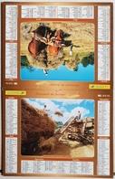 Calendrier Du Facteur La Poste Ptt Année 2004 ISERE Thème Moisson D'antan - Calendriers