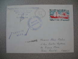 TAAF Lettre    N° 66  Du 24/4/1978  Compagnie Générale Maritime Marion Dufresne Paquebot-Mixte Courrier Posté à Bord - French Southern And Antarctic Territories (TAAF)